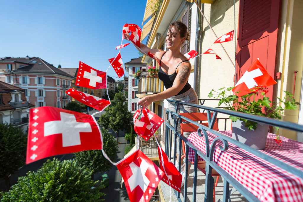 Swiss Flag Balcony